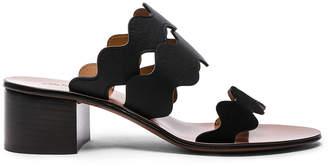 Chloé Lauren Leather & Suede Sandals in Black | FWRD