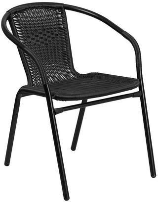 Asstd National Brand Rattan Indoor-Outdoor Restaurant Stack Chair