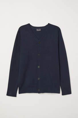 H&M Premium Cotton Cardigan - Blue