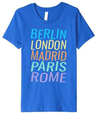 Berlin London Madrid Paris Rome T-Shirt