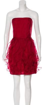Rachel Zoe Silk Ruffled Mini Dress w/ Tags