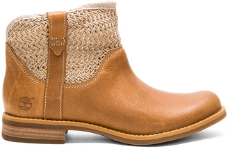 Timberland Savin Hill Leather & Fabric Ankle Boot $140 thestylecure.com