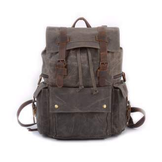 EAZO - Vintage Style Waxed Canvas Backpack in Green
