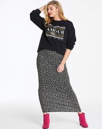 Fashion World Spot Stretch Jersey Maxi Tube Skirt
