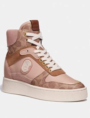 Coach C220 High Top Sneaker With Patch