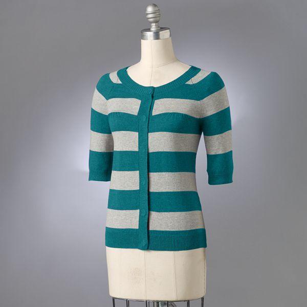 Sonoma Life + Style® Striped Trapeze Cardigan