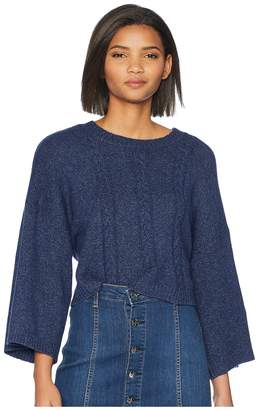 BB Dakota Extra Whip Cable Knit Mock Neck Sweater Women's Sweater
