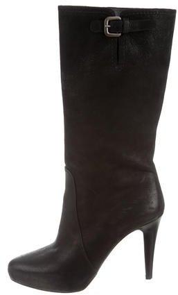 pradaPrada Nubuck Mid-Calf Boots