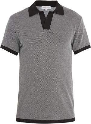 Orlebar Brown Felix two-tone birdseye-knit polo shirt
