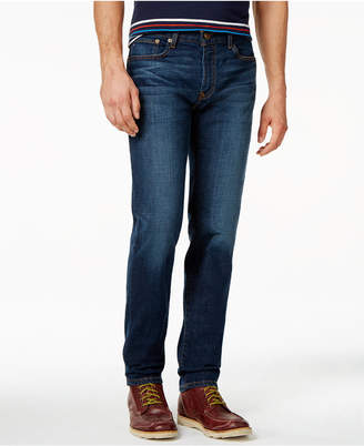 Tommy Hilfiger Men's Slim-Fit Noonan Dark Blue Wash Jeans $59.50 thestylecure.com