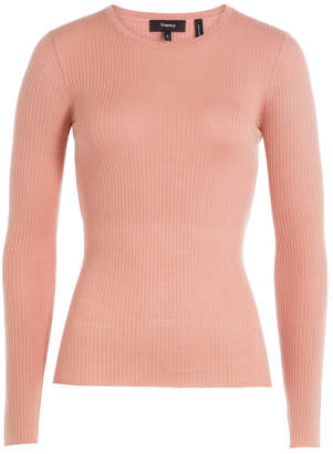 Theory Merino Wool Ribbed Pullover