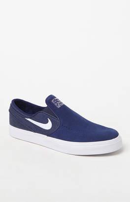 New Balance Nike Sb Zoom Stefan Janoski Slip-On Suede Blue & White Shoes
