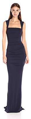 Nicole Miller Women's Felicity Stretchy Matte Jersey Gown $365 thestylecure.com