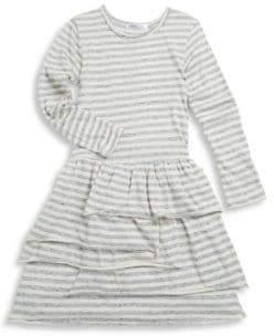 Joah Love Toddler's, Little Girl's& Girl's Yana Stripe Jersey Bustle Dress