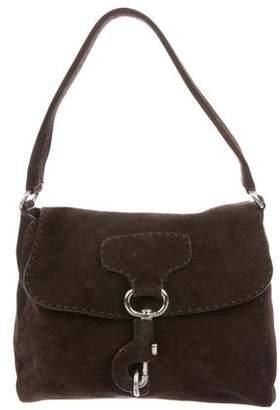 Prada Scamosciato Suede Shoulder Bag