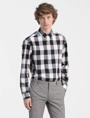 Calvin Klein slim fit block check shirt