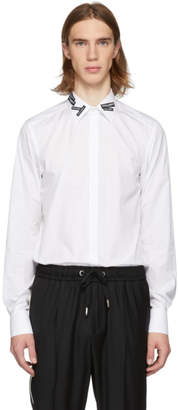 Dolce & Gabbana White Logo Patch Martini Fit Shirt
