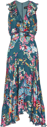 Saloni Rita Floral-Printed Midi Dress