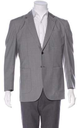 Hardy Amies Woven Two-Button Blazer grey Woven Two-Button Blazer
