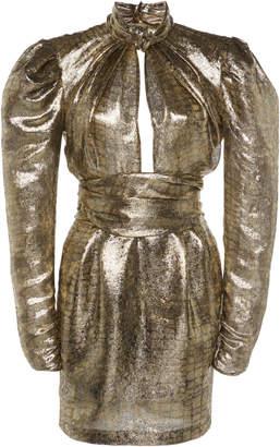 Dundas Cutout Metallic Lame' Dress