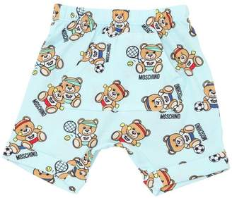 Moschino Bear Printed Cotton Jersey Shorts