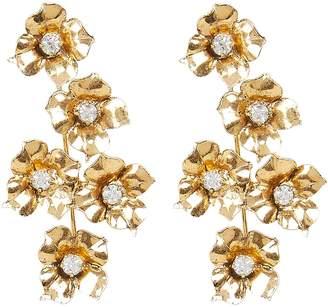 Jennifer Behr Myra Flower Drop Earrings