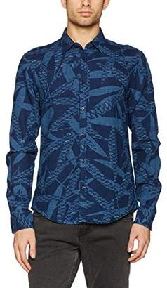 Scotch & Soda Men's Longsleeve Shirt in Cotton/Linen Quality