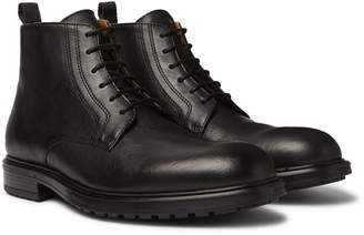 Officine Generale Full-Grain Leather Boots - Men - Black