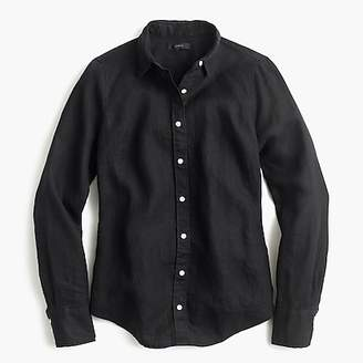 J.Crew Petite slim perfect shirt in piece-dyed Irish linen