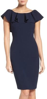 Women's Eliza J Ruffle Sheath Dress $138 thestylecure.com
