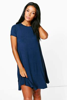 boohoo Rina Cap Sleeve Swing Dress $16 thestylecure.com