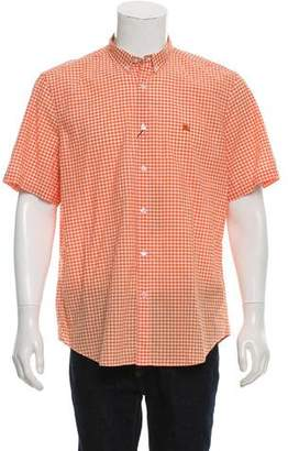 Burberry Gingham Button-Down Short-Sleeve Shirt w/ Tags