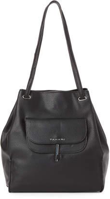 Tahari Black Flipped 4 Poster Shoulder Bag