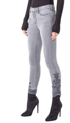 Liverpool Kayden Embroidered Hem Ankle Jeans