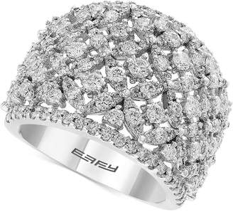 Effy Diamond Openwork Ring (2-1/10 ct. t.w.) Ring in 14k White Gold