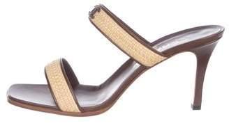 Chanel Woven CC Slide Sandals