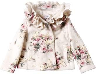 MonnaLisa Floral Printed Boucle Jacket
