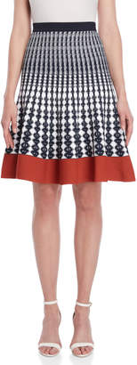 Roberto Collina Patterned Knit Flared Skirt