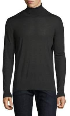 Kiton Black Knit Turtleneck Sweater