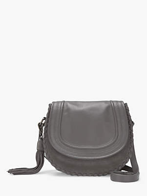 at John Lewis and Partners · Mint Velvet Tor Leather Saddle Bag 78f72a03a3e83
