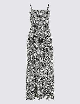 Marks and Spencer Paisley Print Shirred Maxi Dress