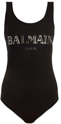 Balmain Logo Print Bodysuit - Womens - Black Silver