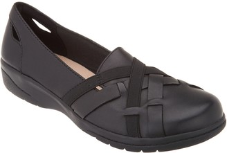 Clarks Collection Leather Slip-On Shoes - Cheyn Creek