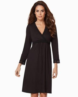 Belabumbum Eva Long Sleeve Nursing Sleepshirt Black