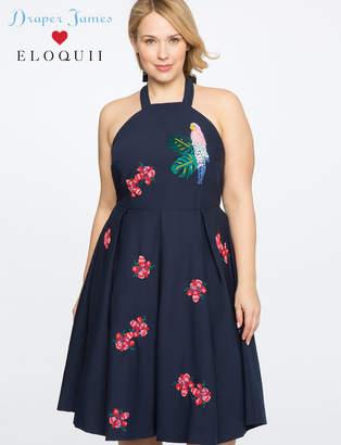 ELOQUII Draper James for Parrot Embellished Dress