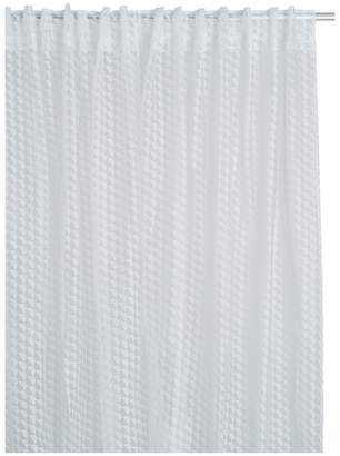 Hex Sheer white patterened pair of curtains 145 x 230cm
