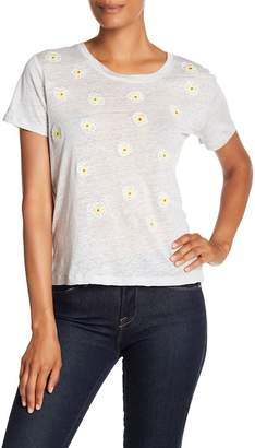 Acrobat Floral Embroidered Linen Tee