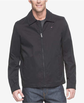 Tommy Hilfiger Men Big & Tall Classic Full-Zip Micro-Twill Jacket