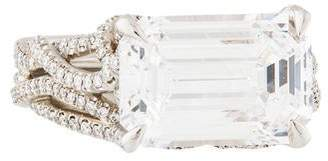 David Yurman 5.58ct Emerald Cut Diamond Engagement Ring