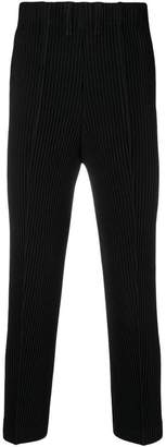 Issey Miyake Homme Plissé pleated straight-leg trousers